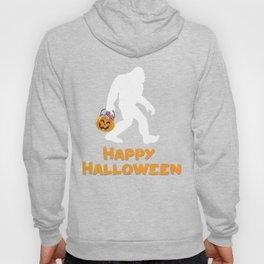Bigfoot Trick or Treating Happy Halloween Hoody
