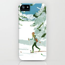 Cross Country Skiing iPhone Case