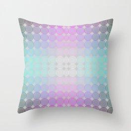 Zen ombre pearls gradient Throw Pillow