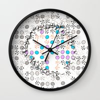 cracked Wall Clocks featuring Cracked by Susann Mielke