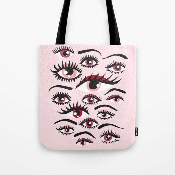 crazy lashes shiny eyes Tote Bag