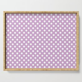 Violet Dots Pattern Serving Tray