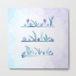 Tropical Succulent Garden Metal Print