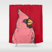 cardinal Shower Curtains featuring Cardinal by turddemon