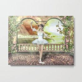 A delicadeza de uma bailarina! Metal Print