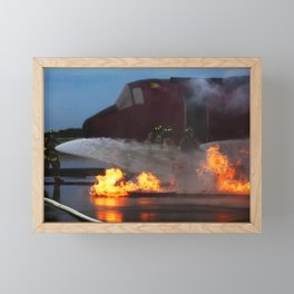 Kennedy Space Center in Florida participate in a training exercise at the Shuttle Landing Facility Framed Mini Art Print