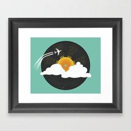 Sunburst Records Framed Art Print