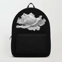 White Rose On Black Backpack