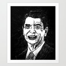 40. Zombie Ronald Reagan Art Print