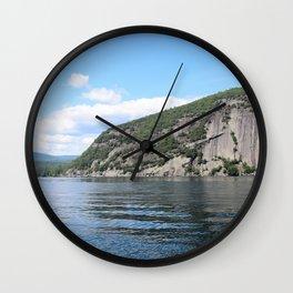 Roger's Rock on Lake George in the Adirondacks Wall Clock