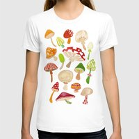 mushrooms T-shirts featuring Mushrooms by Cat Coquillette