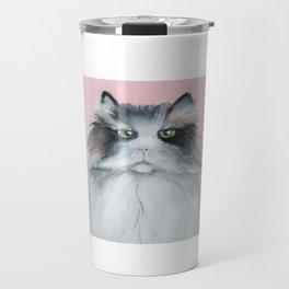 Cat is not impressed Travel Mug