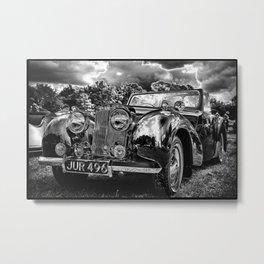 Black old car Metal Print