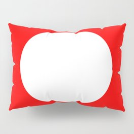 White circle on red Pillow Sham