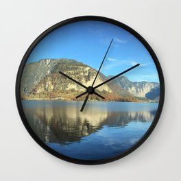 Mountain Morning Reflection Wall Clock