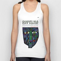 vonnegut Tank Tops featuring Vonnegut - Canary in a Cat House by Neon Wildlife