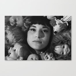 Tallulah With Friends 1 Canvas Print