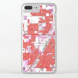 Vintage Map of Las Vegas Nevada (1967) Clear iPhone Case