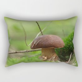 Mushroom time in the forest Rectangular Pillow