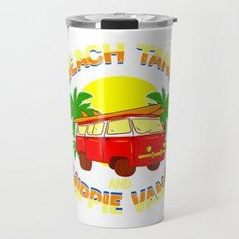Fun Beach Tans and Hippie Vans Travel Mug
