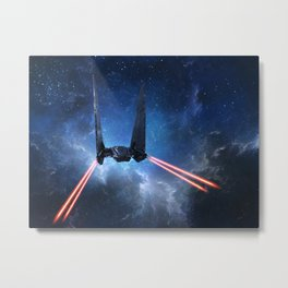 Kylo Rens Command Shuttle Metal Print