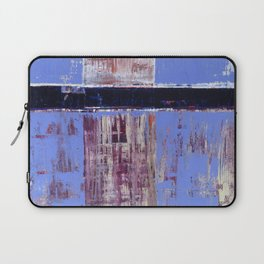 Chagrin Cornflower Blue Abstract Painting Modern Art Laptop Sleeve