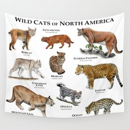 Wildcats of North America Wall Tapestry