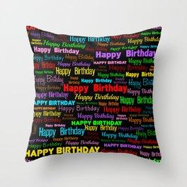 Happy Birthday! 2 Throw Pillow