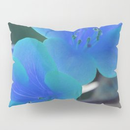 Blue Tint Rhododendron Flowers Pillow Sham