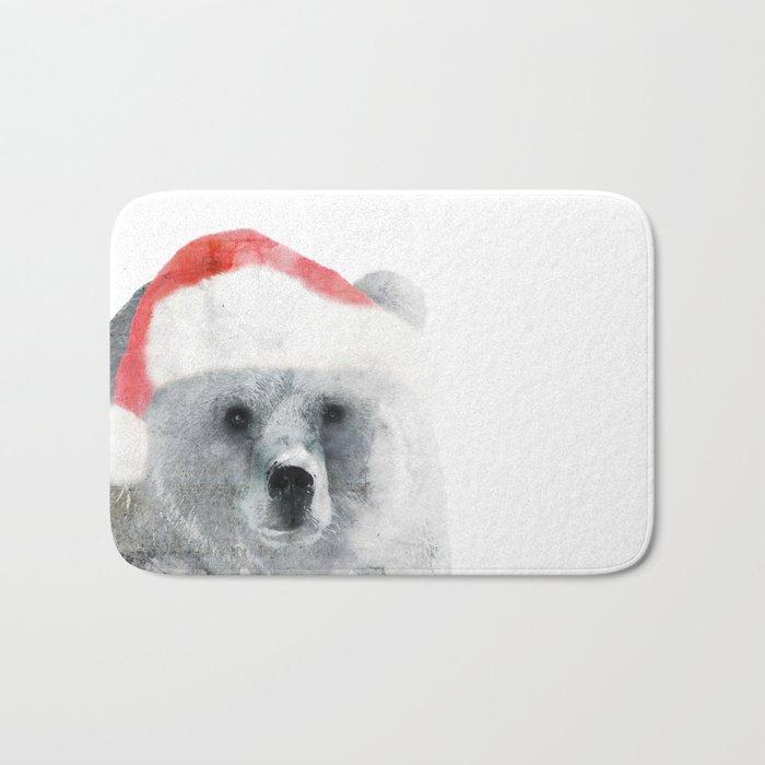 Christmas Teddy Bear Bath Mat