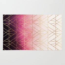 Pink Ombre Triangles Rug