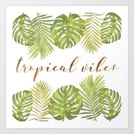 Tropical Vibes - Palms Art Print