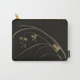 Frog and Orchid Carry-All Pouch