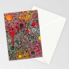 Full Page Doodling Pattern  Stationery Cards