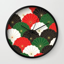 Japanese Chrysanthemum Wall Clock