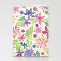 leah flores Stationery Cards featuring Flores by JuanaViEs