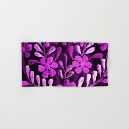Violet Mexican Flowers Hand & Bath Towel