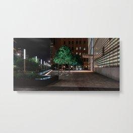 Night city, downtown, Manhattan, New York (2020-5-GNY152) Metal Print