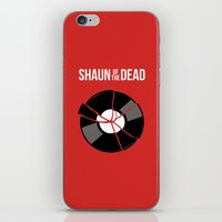 shaun of the dead iPhone & iPod Skins featuring Shaun of the Dead - Record by Nick Kemp