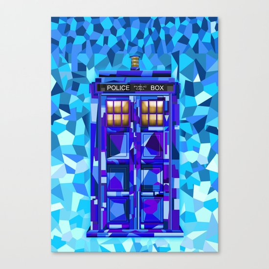Phone booth Tardis doctor who cubic art iPhone 4 4s 5 5c 6, pillow case, mugs and tshirt Canvas Print