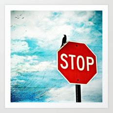 I Stop for Birds Art Print