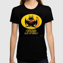 the night knight fox in cute cosplay of a bat ecopop T-shirt