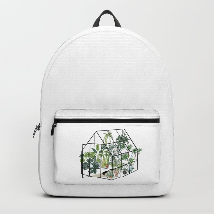 greenhouse with plants Backpack