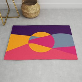Abstract Desert Art Rug