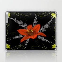Lily and Gladiolas abstract Laptop & iPad Skin