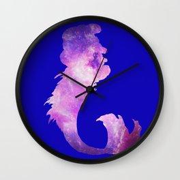 Galaxy Mermaid 5 (Navy) Wall Clock