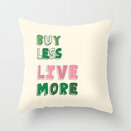 Reduce: Save the planet Throw Pillow