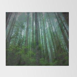 Misty Mountain Forest Throw Blanket