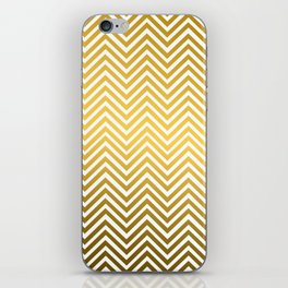 Classic Chevron Gold Metal Pattern                             iPhone Skin