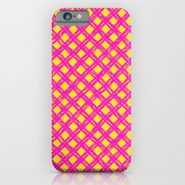 Abstract geometric summer pattern iPhone Case